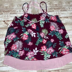 Abercrombie Kids Tropical Floral Cami Top 13/14